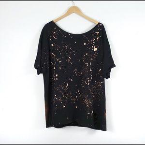 😎NEW Oversized Bleached t shirt Dress/Tee S-2X